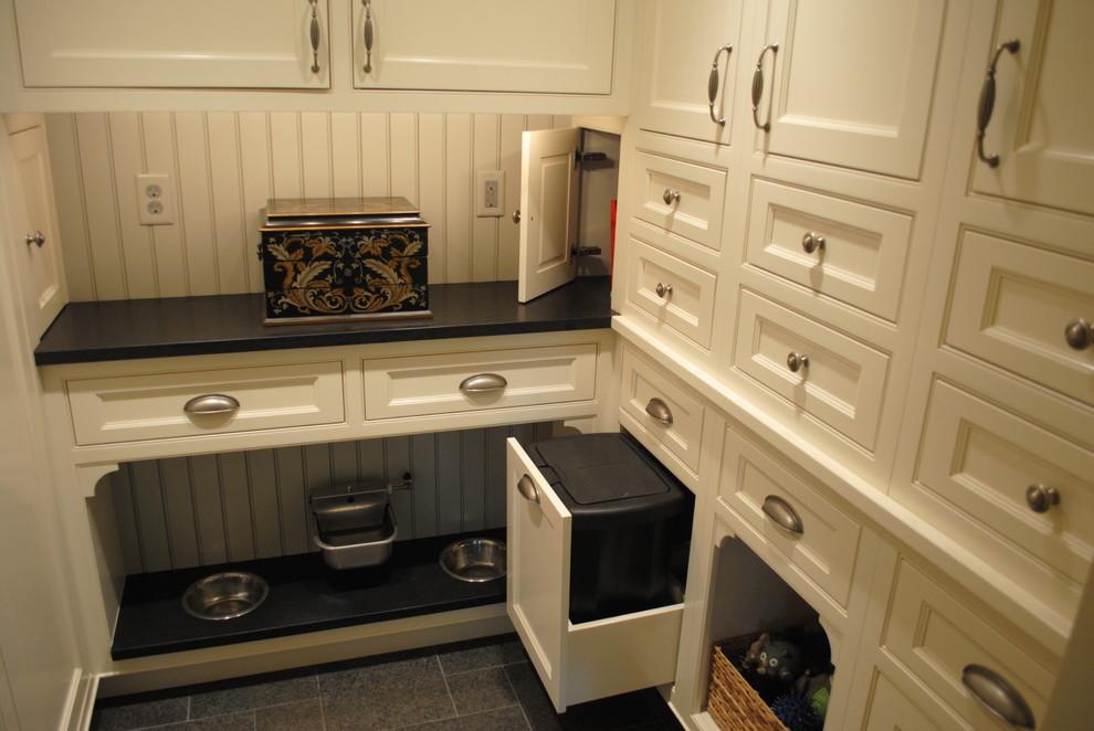 Elegant laundry room photo in Baltimore