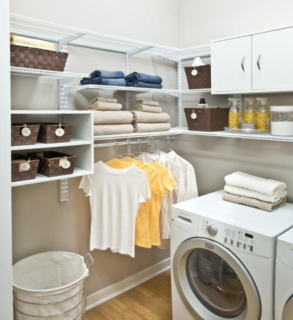 Organized living freedomrail laundry room traditional - Amenagement buanderie photos plans ...