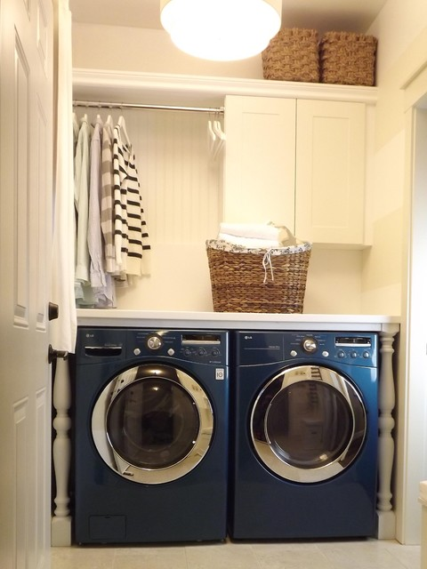 Our Mini Manor contemporary laundry room