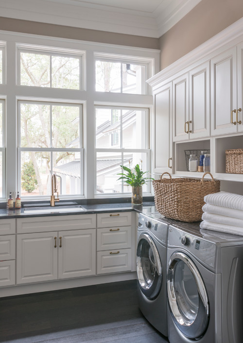 Traditional Laundry Room by Bluffton Kitchen & Bath Designers Palmetto Cabinet Studio
