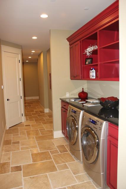 Penthouse Condominium Eclectic Laundry Room Grand