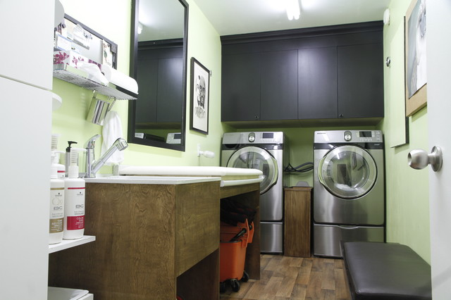 eclectic laundry room by Esther Hershcovich