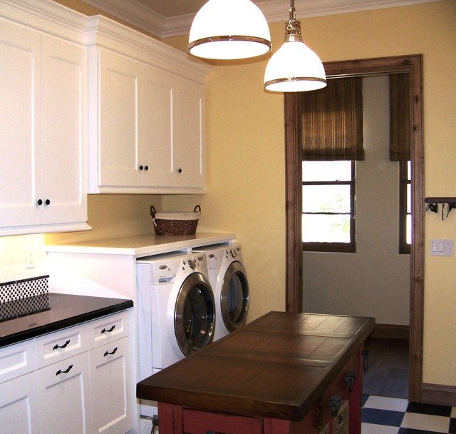 Poway P Laundry room new construction traditional laundry room