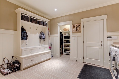 Private home contemporary laundry room