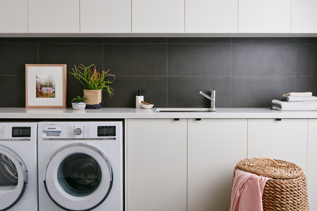 Purtell Street, Bentleigh East contemporary-laundry-room