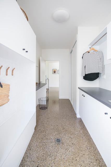 Queenslander Renovation contemporary-laundry-room