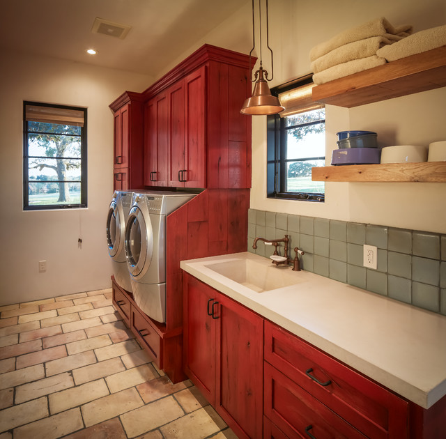 Ranch Rustic Laundry Room Houston By Thompson