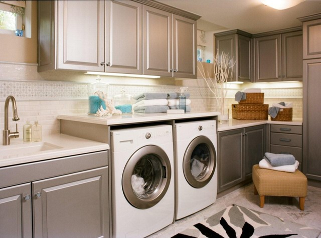 Reaume Construction & Design traditional-laundry-room