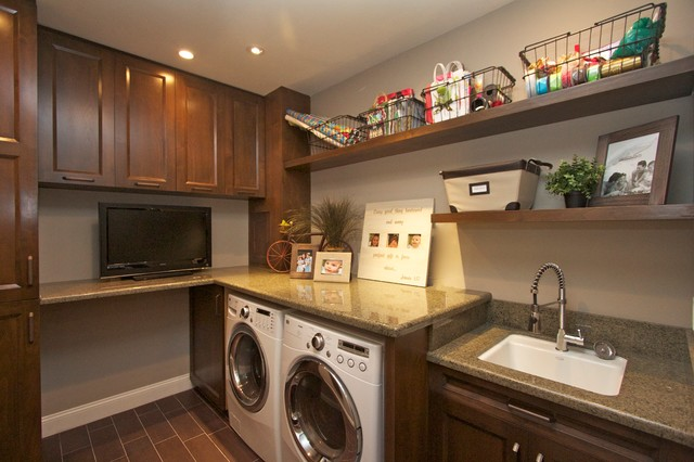 Storage Solutions For Craft Rooms: Robeson Design Laundry Room Craft Space Storage Solutions