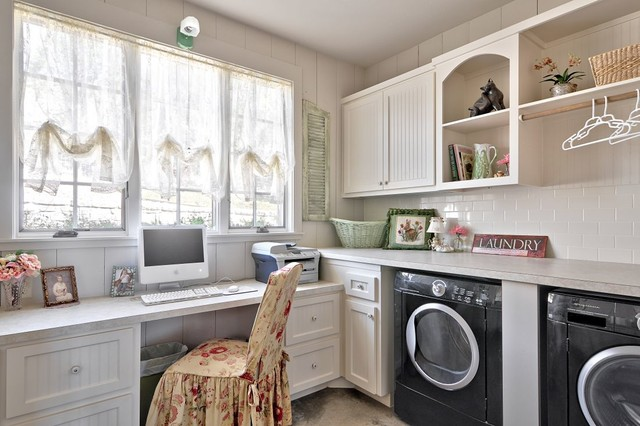 Romantic Hill Country Dream Farmhouse Laundry Room