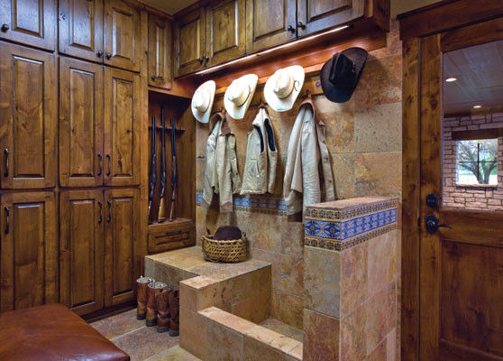 Rustic Home Idea Traditional Laundry Room Other