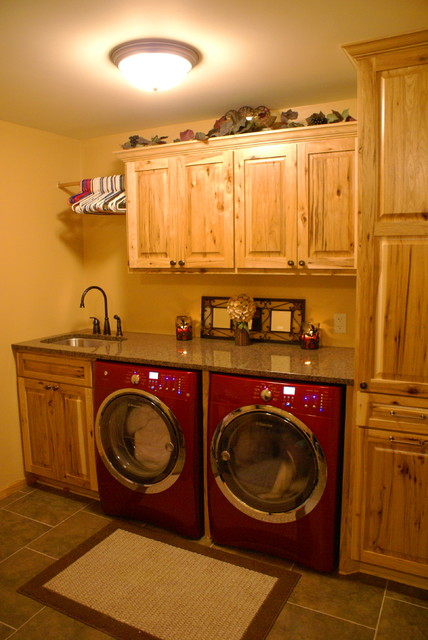 Rustic Laundry Room - Traditional - Laundry Room - minneapolis - by Bergstrom Cabinets