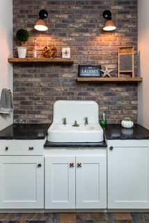 Saco Craftsman Style Industrial Laundry Room
