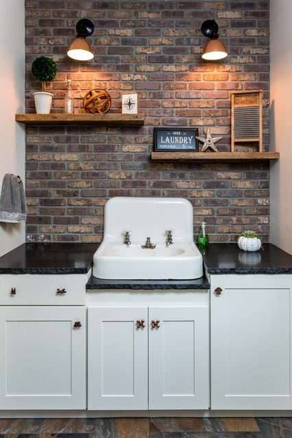 Saco Craftsman Style Industrial Laundry Room Portland Maine Cool Maine Coast Kitchen Design