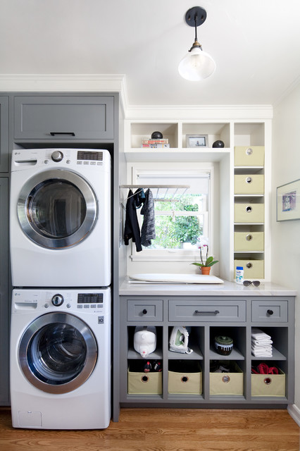 San Roque Modern transitional-laundry-room