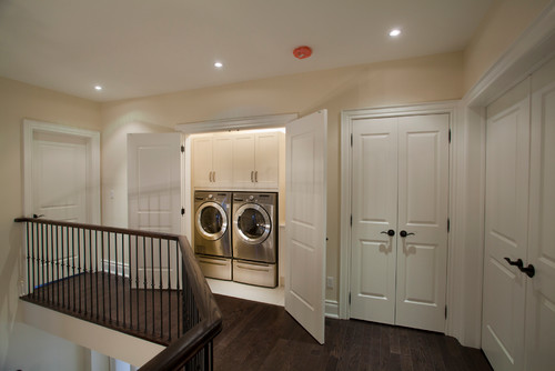 contemporary laundry room How To Use an Unused Closet