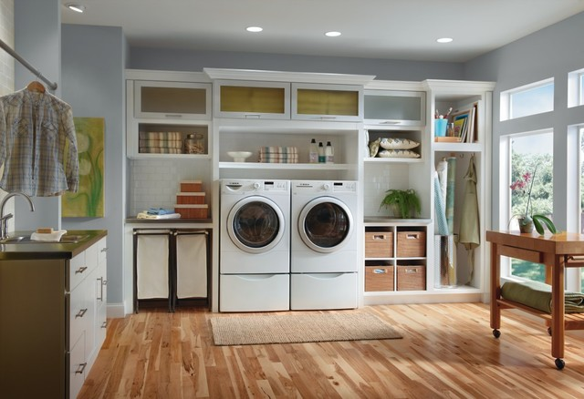Schrock Huxley Laundry Room Cabinets Traditional Laundry Room