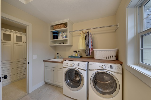 Second floor laundry room o 39 donell woods model 2014 for Second floor laundry