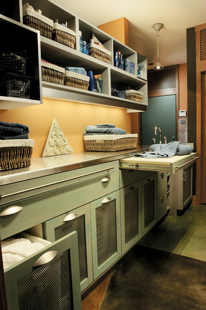 Seifer Laundry Room Ideas Craftsman Laundry Room New York By Seifer Kitchen Design Center
