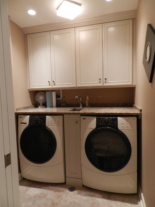 What is the name of the sink between the washer and dryer?