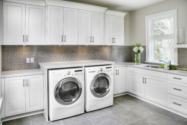 Sleek home in oakville 1206 contemporary laundry for House plans with large laundry room