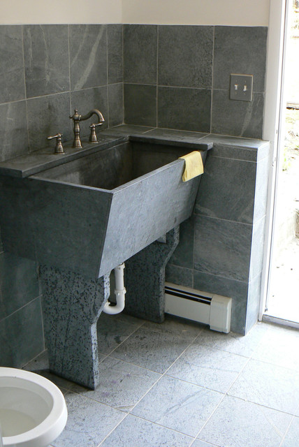 Granite Laundry Sink : Soapstone Laundry Room Sink - Traditional - Laundry Room - new york ...