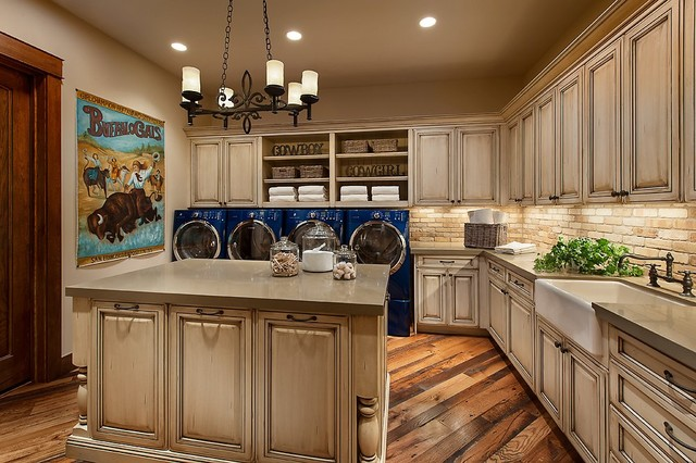 Southwestern Ranch Traditional Laundry Room Phoenix