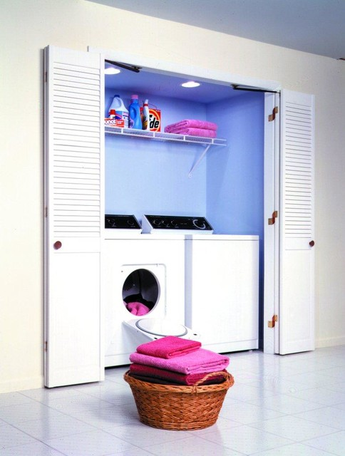 Lovely Space Saving Ideas Contemporary Laundry Room