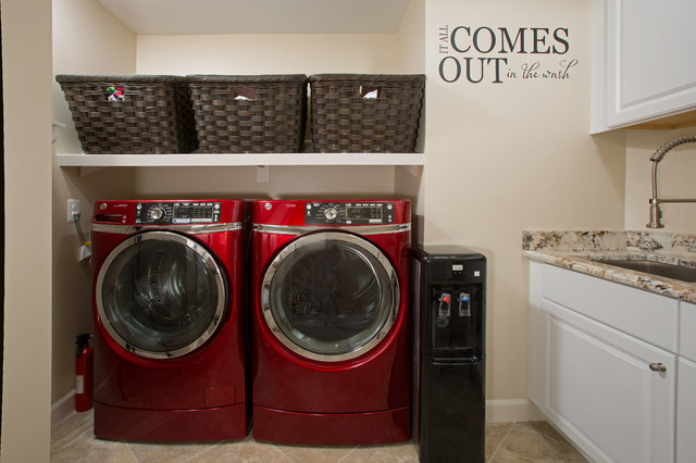 and cozy spa like master bath in sterling transitional laundry room