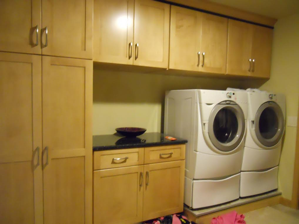 Storage Filled Laundry Room