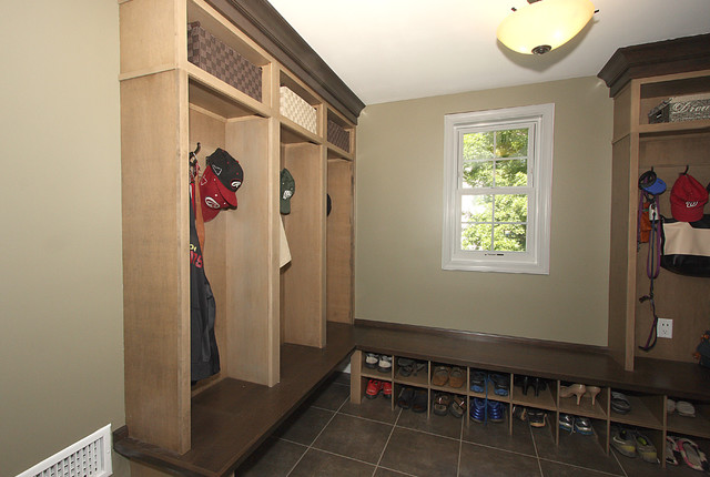 Mudroom Storage Solutions : Storage solutions mudroom traditional laundry room