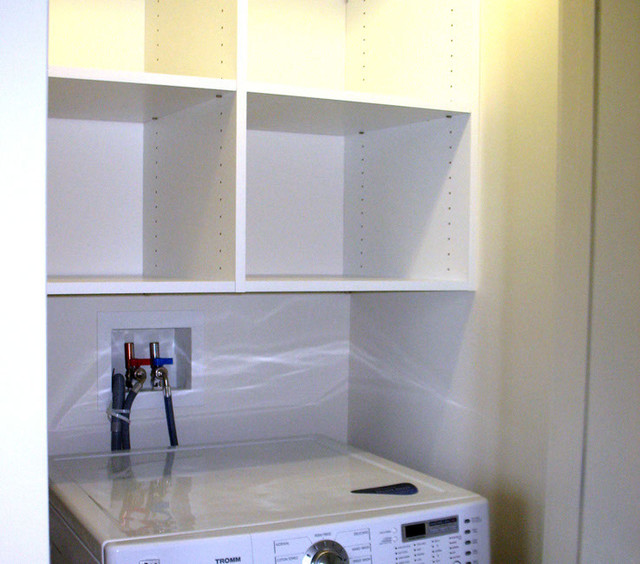 Storage unit above washer and dryer - Contemporary - Laundry Room ...