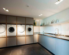 Style: Transitional contemporary-laundry-room
