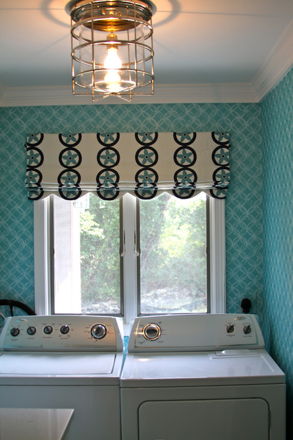 Summer Home in Little Compton, RI - Beach Style - Laundry Room - providence - by Lou Lou s Decor