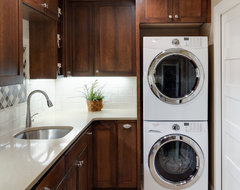 18th Place S traditional-laundry-room