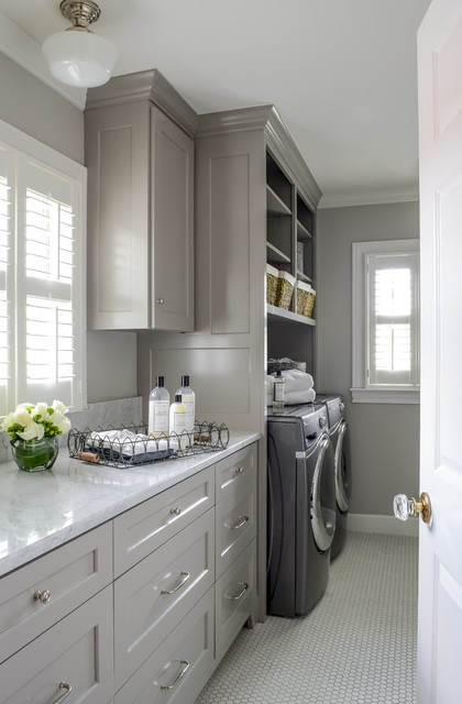 Terrell Hills Kitchen and Bath design and remodel, Bradshaw Designs traditional-laundry-room