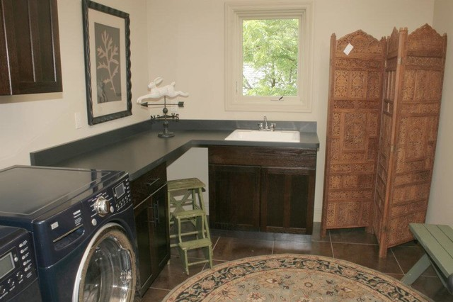 the Beach House traditional-laundry-room