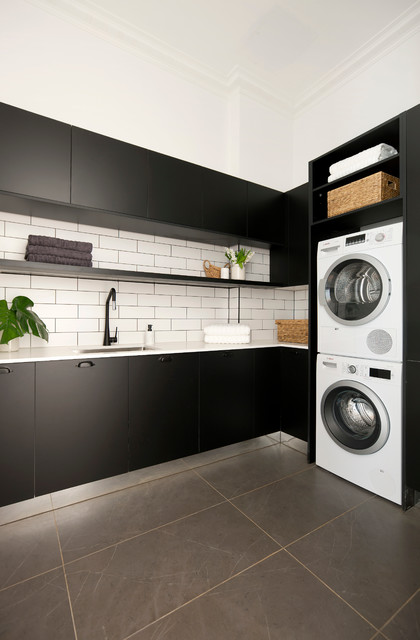 The block 2016 challenge kitchen traditional laundry for Laundry kitchen ideas