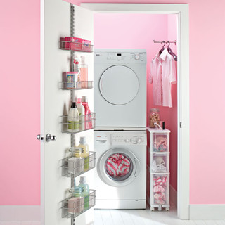 The Container Store > Platinum elfa Laundry Door & Wall Rack contemporary laundry room