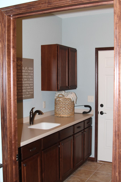The Evergreen - Creekside Preserve Model Home traditional-laundry-room