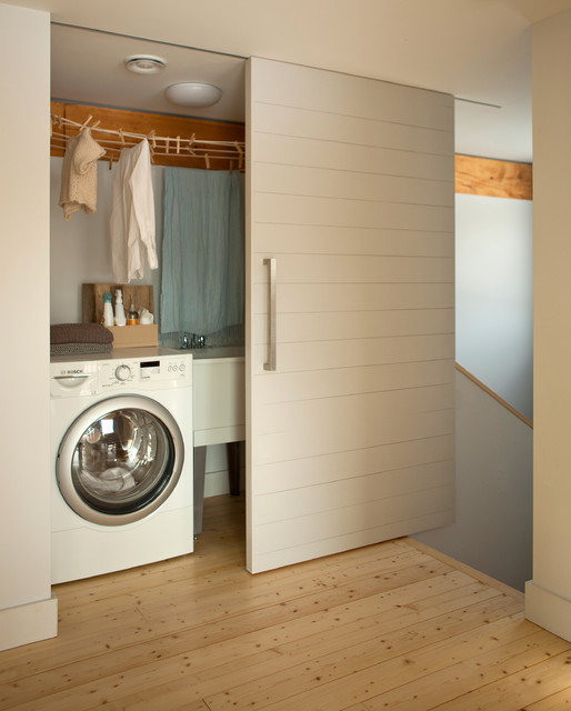 The GO Home Passive House contemporary-laundry-room