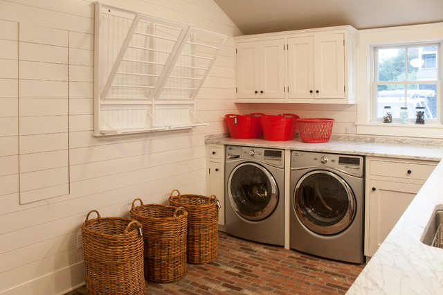 The Meeting House Beach Style Laundry Room New York by