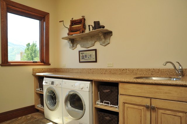 The Olson's rustic-laundry-room