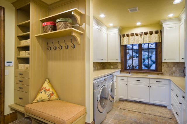 The Rivendell Manor Traditional Utility Room Portland by
