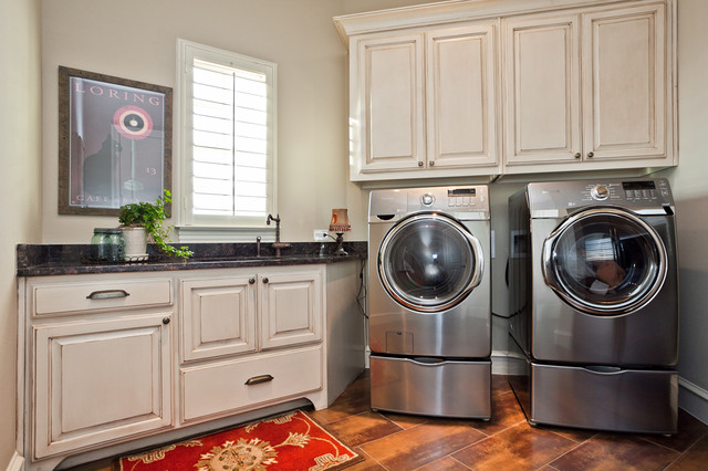 The Sterling Traditional Laundry Room Dallas By