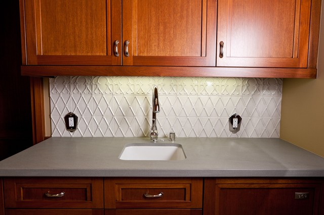 Theatre Room Wet Bar - Traditional - Laundry Room - san diego - by Cabochon Surfaces & Fixtures