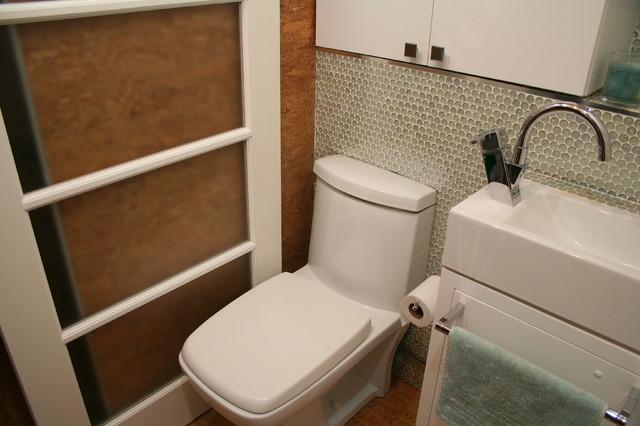 Tiny laundry/powder room contemporary-laundry-room