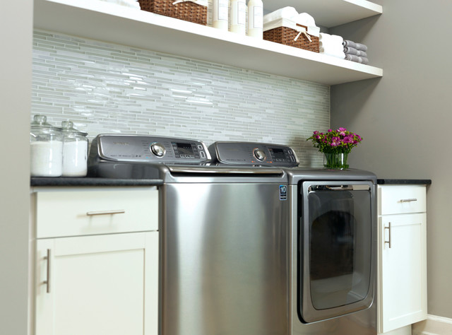 Top Load Washer Contemporary Laundry Room