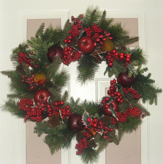 Traditional Christmas Wreath - Laundry Room - dc metro