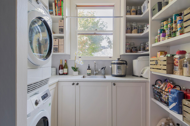 Traditional Kitchen With Butler Pantry Transitional Laundry Room Sydney By Living Edge